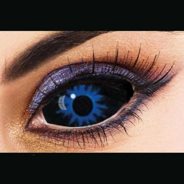 Black Sclera Red Iris Contacts Misris Black and Blue ...