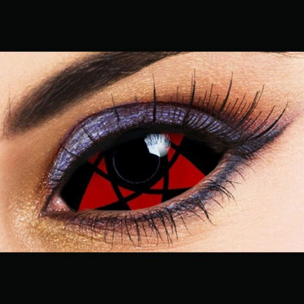 SHARINGAN NARUTO HEXAGRAM SCLERA 22mm