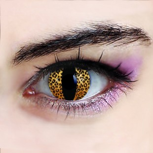 Golden Leopard Eyes Crazy Lenses