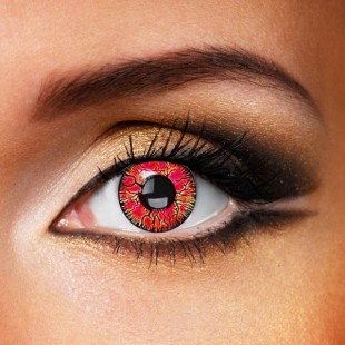 Red Burst Crazy Contacts
