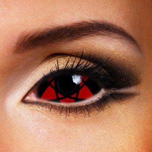 SHARINGAN NARUTO HEXAGRAM SCLERA 22mm(New)