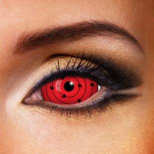 Sharingan RINNEGAN RED Ten Tails SCLERA 22mm