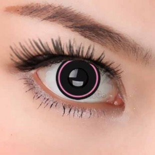 Crazy zombie Black and Pink Contacts
