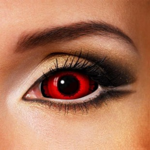 Angry Wolf Black & Red SCLERA 22mm Contact (New)