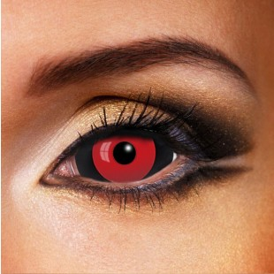 Red and Black SCLERA 22mm Contact