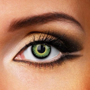 Green werewolf eyes crazy contact lenses