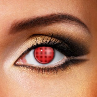 Red Mesh Crazy Contacts