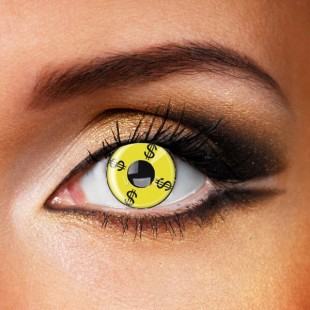 Yellow Dollar Crazy Contacts