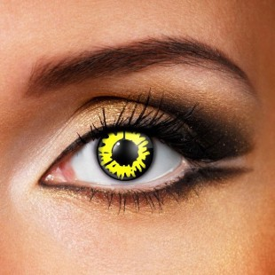 Yellow werewolf eyes contact lenses