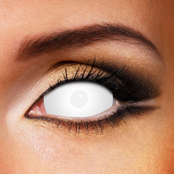 White SCLERA Crazy Lenses 22MM